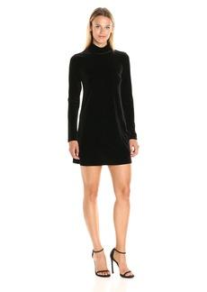 Only Hearts Women's Velvet Mock Neck Dress  M