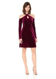 Only Hearts Women's Velvet Underground Cold Shoulder Dress  L