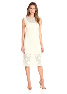 Only Hearts Women's Zoe Midi Column Dress with Liner Creme