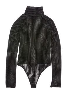 Women's Only Hearts Velvet Rib Raglan Turtleneck Bodysuit