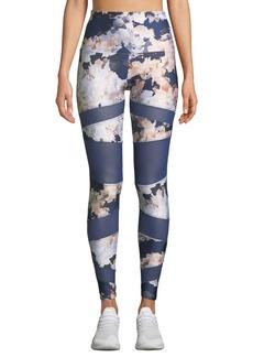 Onzie Bondage Floral-Print Mesh Leggings