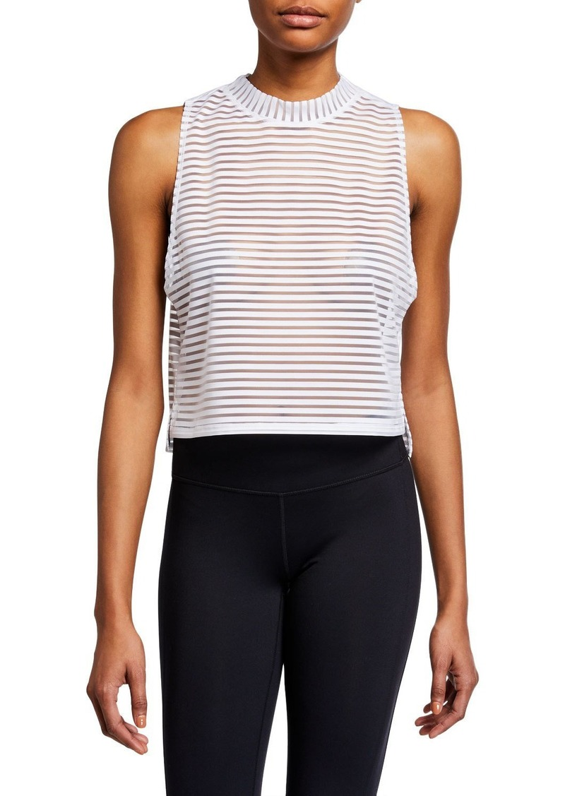 Onzie Edge Striped Mesh Tank Top