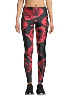 Onzie High-Rise Floral-Print Performance Leggings