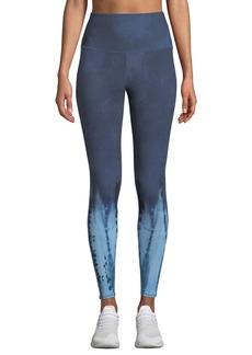 Onzie High-Waist Tie-Dye Midi Yoga Leggings