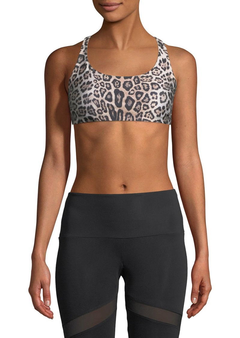 Onzie Chic Strappy Crisscross  Sports Bra  Leopard-Print