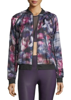 Onzie Fast Flower Performance Bomber Jacket