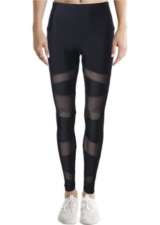 Onzie Women's High Rise Bondage Legging Black mesh X/S