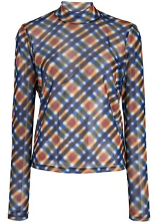 Opening Ceremony sheer blurry print top