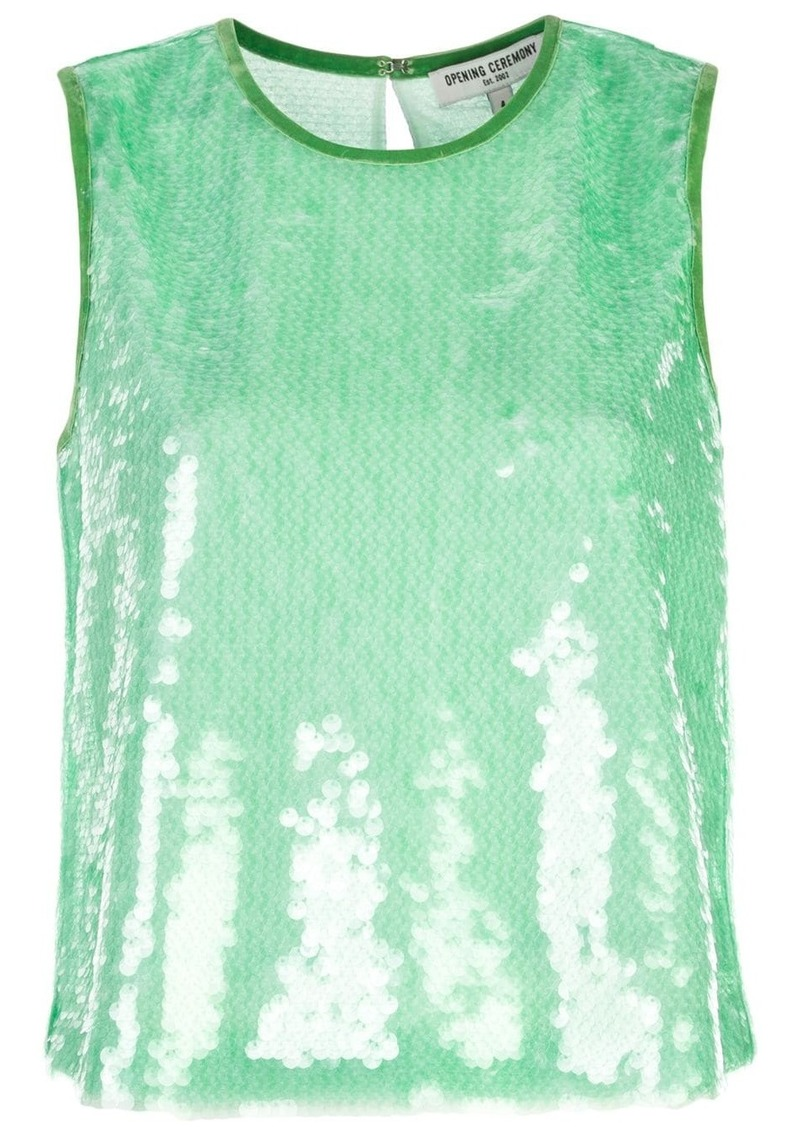 Opening Ceremony sequined sleeveless top