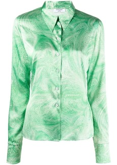 Opening Ceremony marble-print pointed-collar shirt