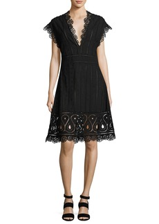 Opening Ceremony Anglaise Short-Sleeve Eyelet Dress