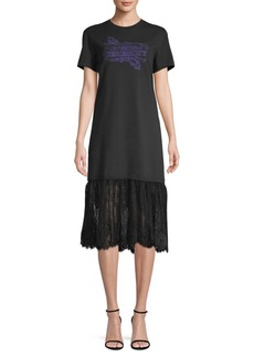 Opening Ceremony Appliqué Lace Hem T-Shirt Dress