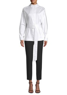 Opening Ceremony Belted Poplin Blouse