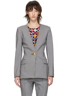 Opening Ceremony Black & White Check Tailored Blazer