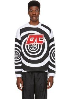 Opening Ceremony Black & White Graphic Cozy Sweatshirt