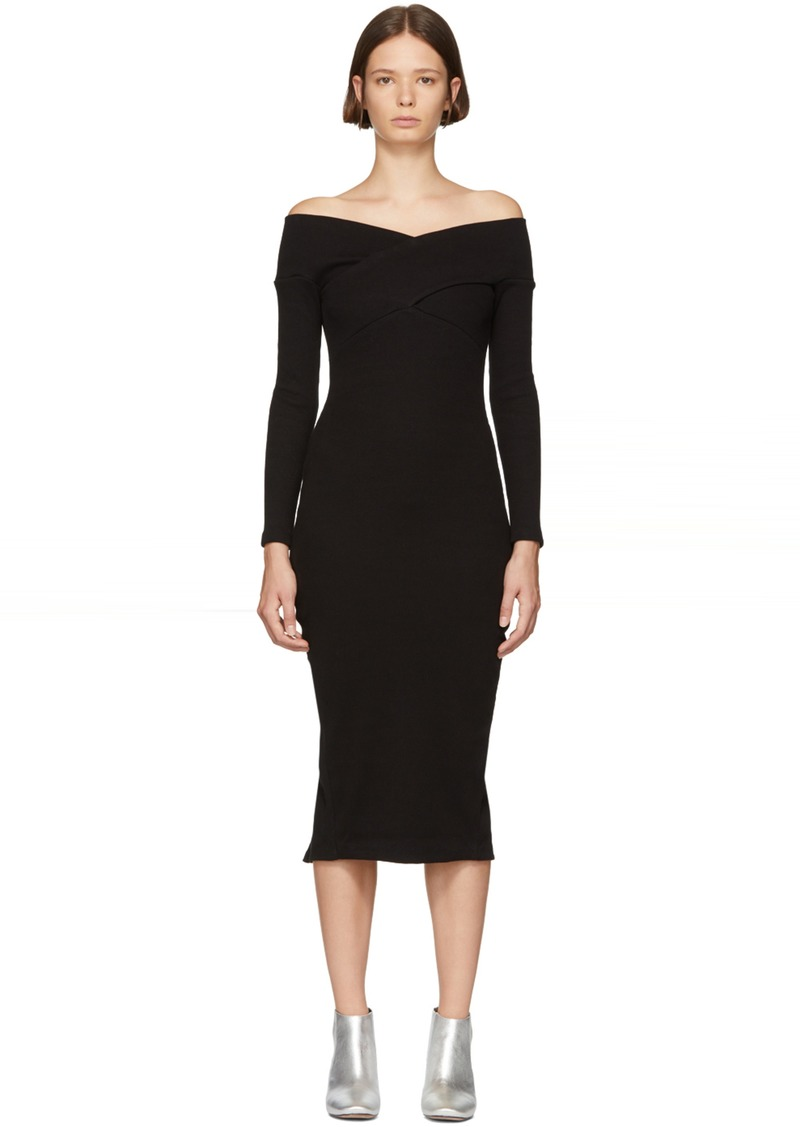 Opening Ceremony Black Bodycon Midi Dress