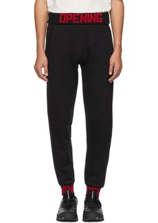 Opening Ceremony Black Elastic Logo Fitted Lounge Pants