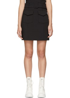 Opening Ceremony Black Military Miniskirt