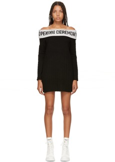 Opening Ceremony Black Off The Shoulder Rib Dress