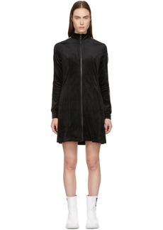 Opening Ceremony Black Plush Velour Track Dress