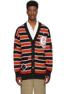 Opening Ceremony Black Varsity Stripe Cardigan
