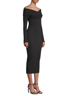 Opening Ceremony Bodycon Off-The-Shoulder Midi Dress
