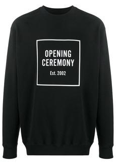Opening Ceremony Box Logo long-sleeved sweatshirt