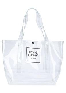 Opening Ceremony box logo print shopper tote bag
