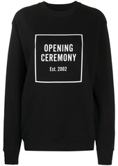 Opening Ceremony box logo slim-fit sweatshirt