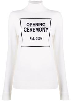 Opening Ceremony box logo turtleneck jumper