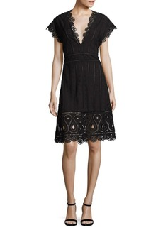 Opening Ceremony Broderie Anglaise Cotton Dress