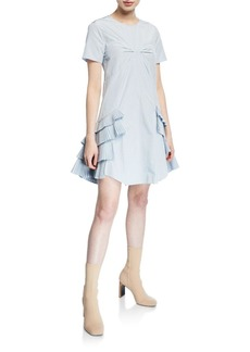 Opening Ceremony Cotton-Blend Ruffle Dress