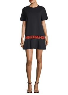 Opening Ceremony Logo Flounce T-Shirt Dress