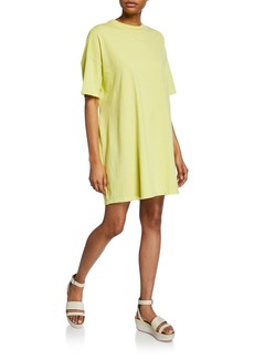 Opening Ceremony Crewneck Short-Sleeve Elastic-Back Tee Dress