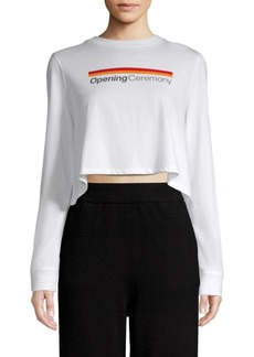Opening Ceremony Cropped Graphic T-Shirt