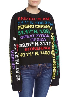 Opening Ceremony Destination Hand-Knit Graphic Crewneck Sweater
