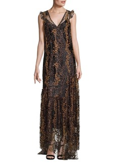 Opening Ceremony Enamel Glitter Dress