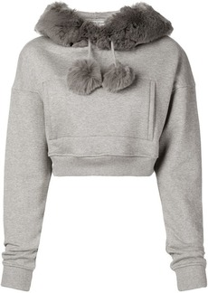 Opening Ceremony faux fur cropped hoodie