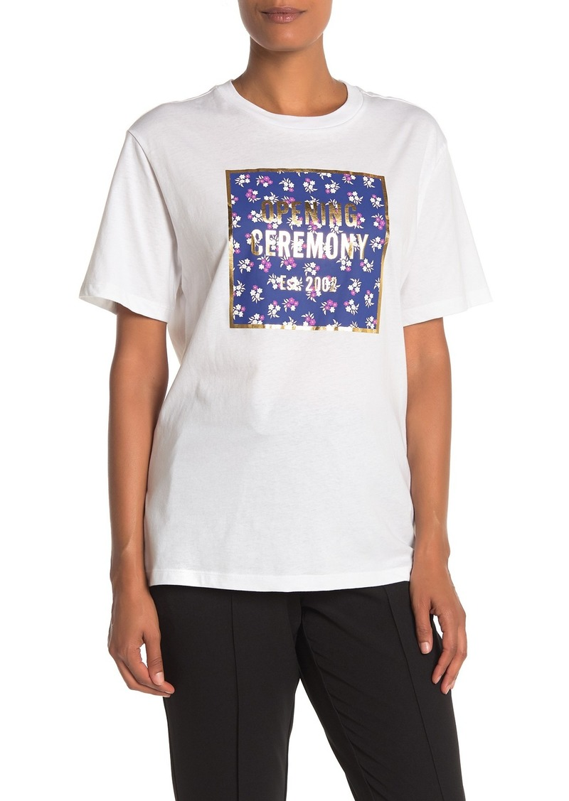 Opening Ceremony Floral Box Logo Short Sleeve T-Shirt