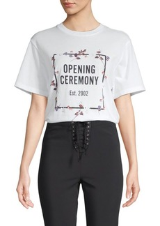 Opening Ceremony Floral Logo Tee