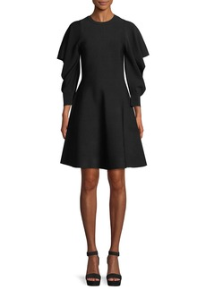 Opening Ceremony Flounce-Sleeve Crewneck Dress