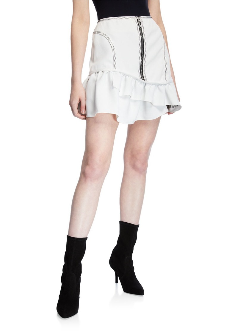 Opening Ceremony Front Exposed-Zip Mini Skirt