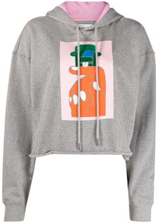 Opening Ceremony hand chair print cropped hoodie