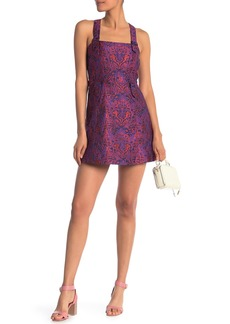 Opening Ceremony Jacquard Belted Buckle Fit & Flare Dress