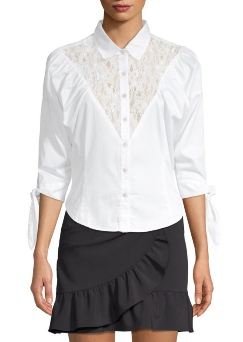 Opening Ceremony Lace Button-Front Blouse