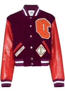 Opening Ceremony logo appliqué cropped varsity jacket