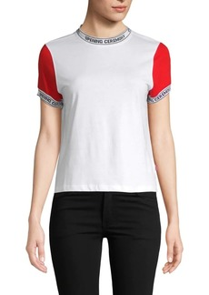 Opening Ceremony Logo Banded Cotton Tee