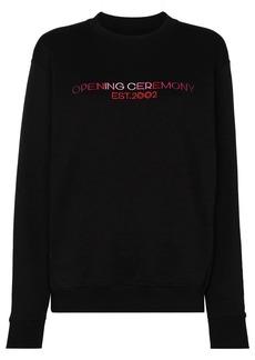 Opening Ceremony logo embroidered cotton sweatshirt