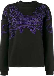 Opening Ceremony logo embroidered sweatshirt