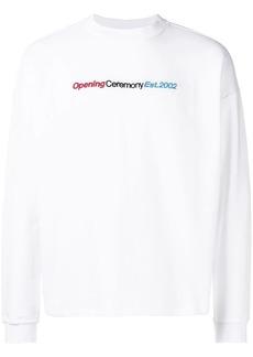 Opening Ceremony logo embroidered sweatshirt